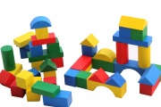 Cubes de construction multicolores (27 mm)